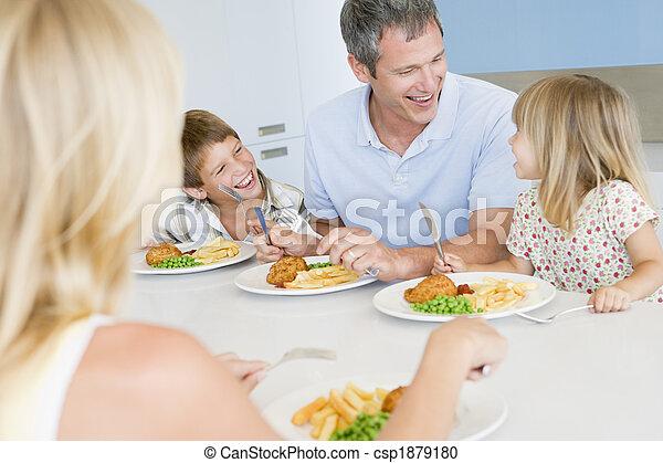 ätande mål, familj, tillsammans - csp1879180