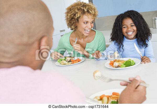 ätande mål, familj, tillsammans - csp1731644