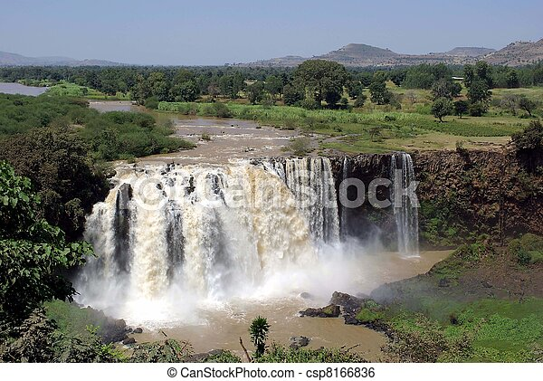 äthiopien, wasserfälle - csp8166836