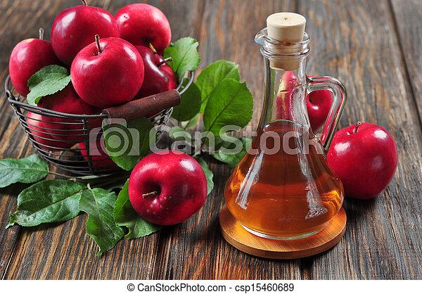 ättika, cider, äpple - csp15460689