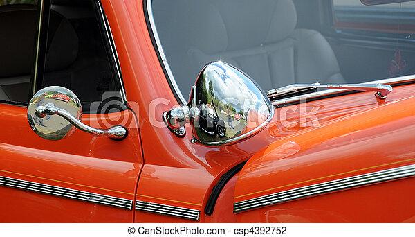 årgång, automobile., klassisk - csp4392752