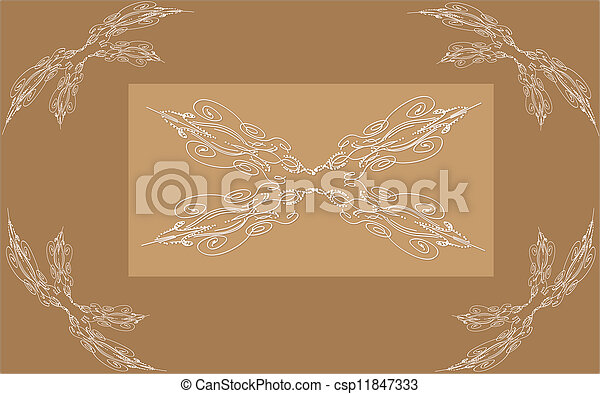 årgång, bakgrund, ornamental - csp11847333