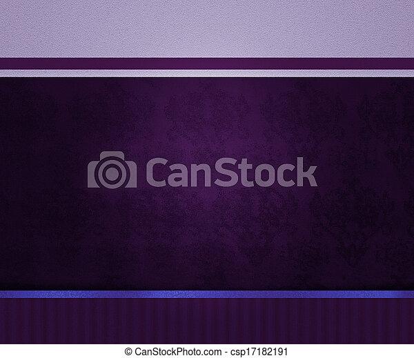 årgång, bakgrund, violett - csp17182191