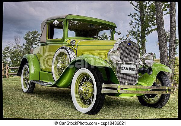 årgång bil - csp10436821