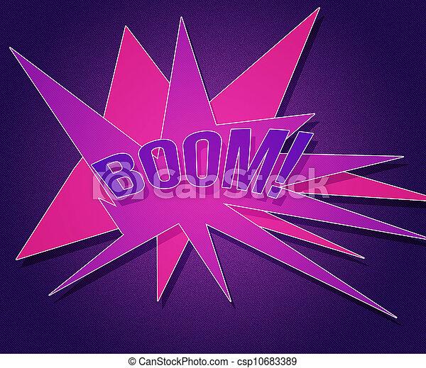 årgång, bom, bakgrund, violett - csp10683389