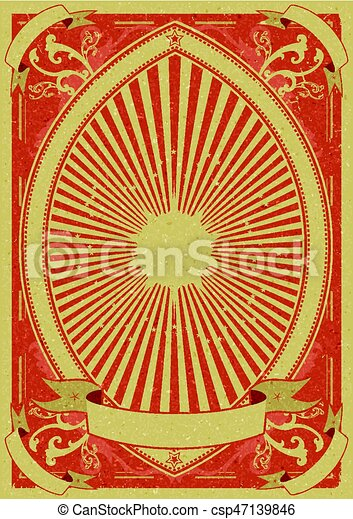 årgång, grunge, bakgrund, affisch - csp47139846
