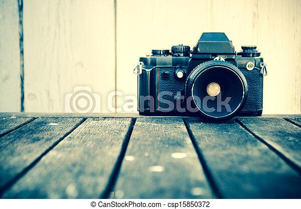 årgång kamera - csp15850372