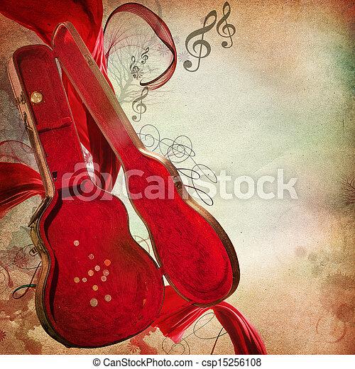 årgång, musik, bakgrund - csp15256108