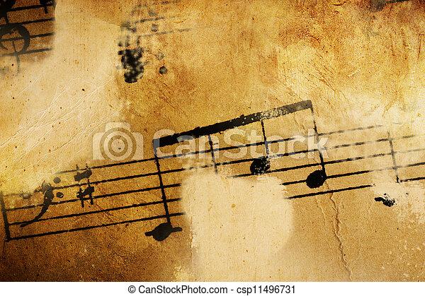årgång, musik, bakgrund - csp11496731