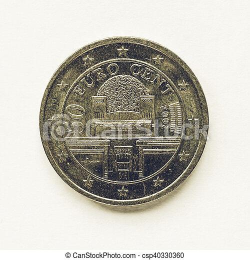 årgång Mynt 50 Cent österrikare Europa årgång 50 Cent Se