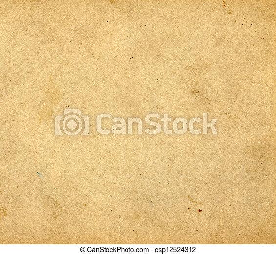årgång, papper, bakgrund - csp12524312
