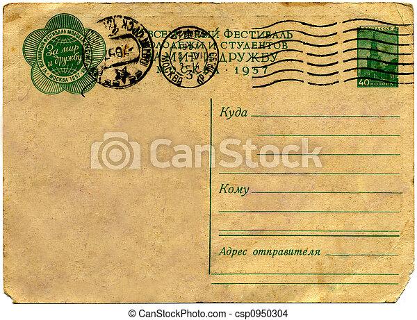 årgång, postcard. - csp0950304
