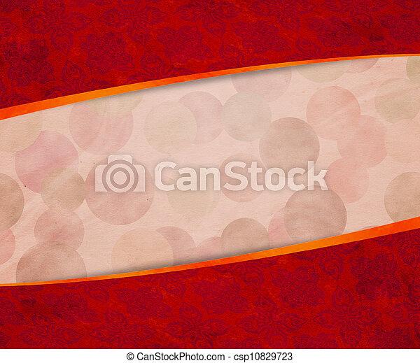 årgång, röd fond - csp10829723