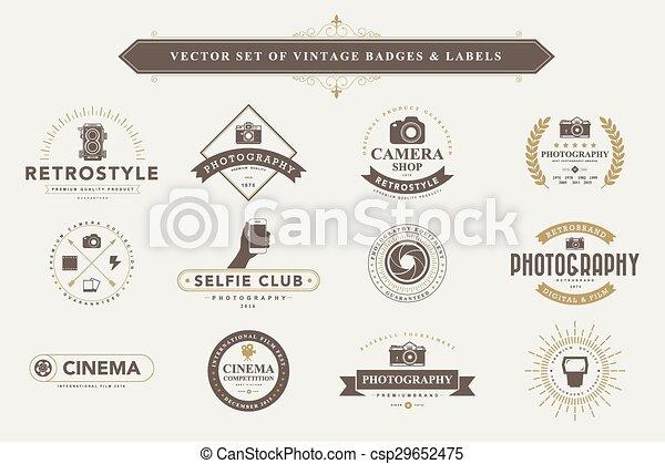 årgång, sätta, märken, labels. - csp29652475