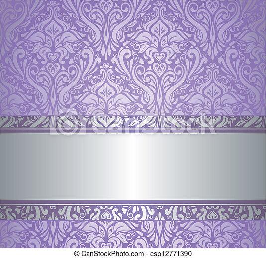 årgång, silver, lyxvara, wa, violett - csp12771390