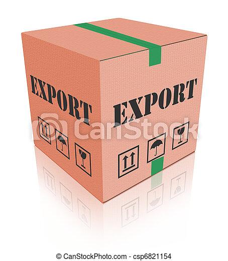 æske, carboard, eksporter, forsendelse, pakke - csp6821154