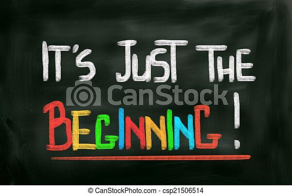 è, concetto, inizio, giusto - csp21506514