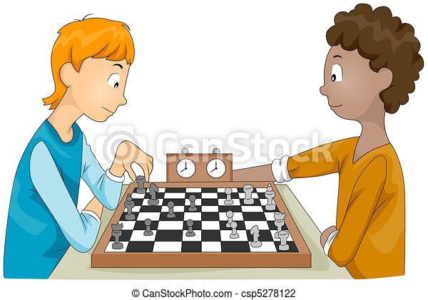 échecs égalent - csp5278122