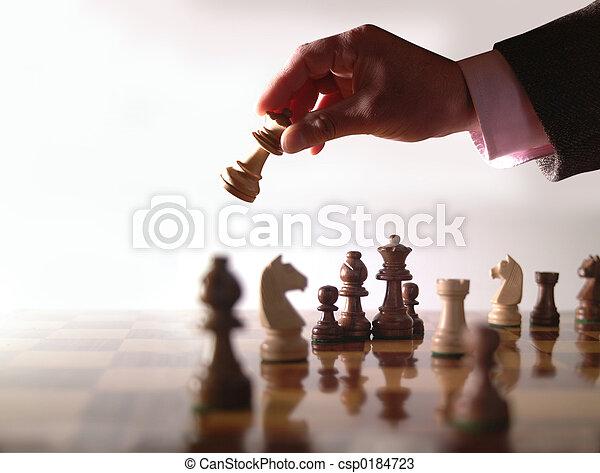 échecs, main - csp0184723