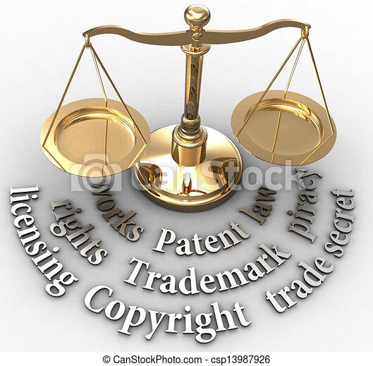 échelle, droits, justice, ip, légal, mots - csp13987926