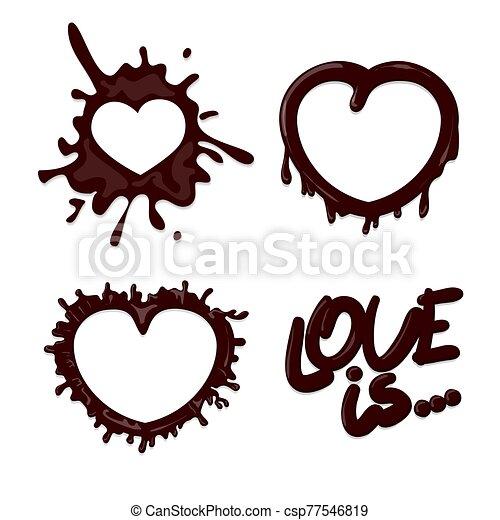 éclaboussure, chaud, blanc, ensemble, chocolat, isolé - csp77546819