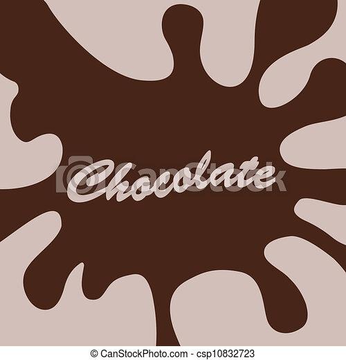 éclaboussure, chocolat - csp10832723