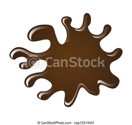 éclaboussure, chocolat - csp13314441