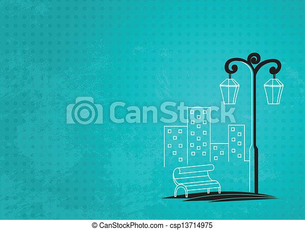 éclairage public, fond - csp13714975