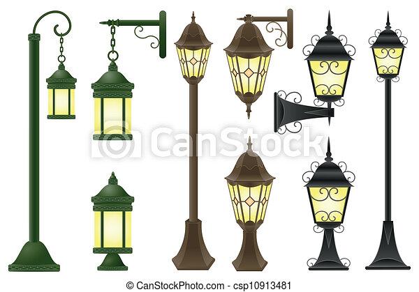 éclairage public, vecteur, illustration - csp10913481