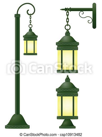 éclairage public, vecteur, illustration - csp10913482