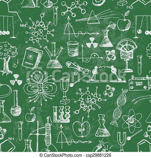 école, blackboard., dos, fond, seamless - csp29881226