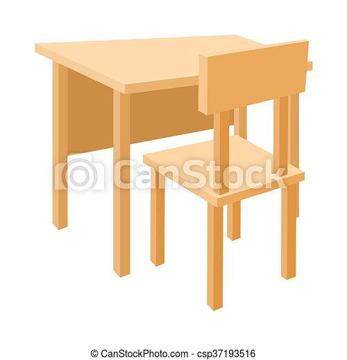 cole bois style bureau ic ne chaise dessin anim. Black Bedroom Furniture Sets. Home Design Ideas