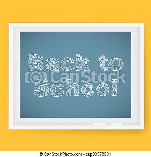école, dos, fond - csp30578301