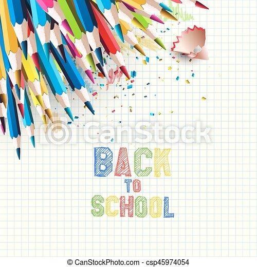 école, dos, fond - csp45974054