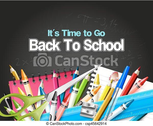 école, dos, fond - csp45642914