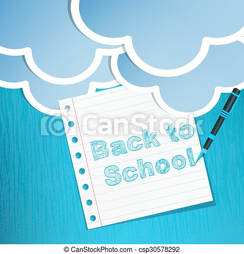 école, dos, fond - csp30578292