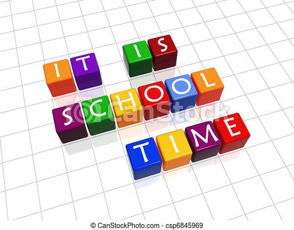école, il, temps - csp6845969