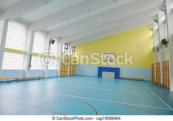 école, intérieur, gymnase - csp19596464