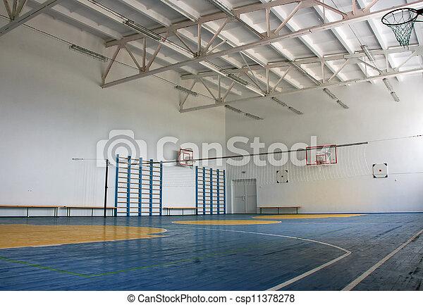 école, intérieur, gymnase - csp11378278