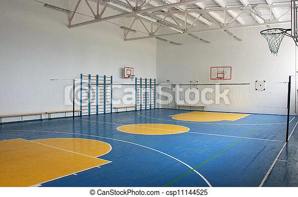 école, intérieur, gymnase - csp11144525