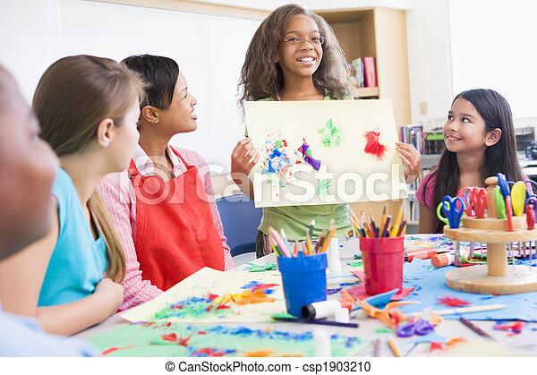 école primaire, art, pupille, classe - csp1903210