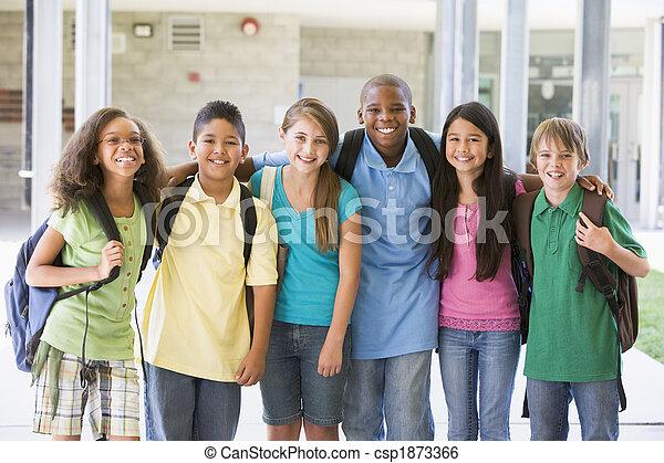 école primaire, classe, dehors - csp1873366