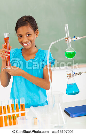 école, science, pupille, femme, élémentaire, classe - csp15107001