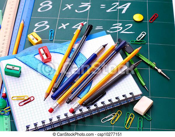 école, supplies., dos - csp10277151