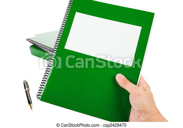 école, vert, manuel - csp2429470
