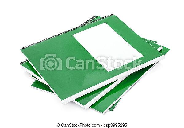 école, vert, manuel - csp3995295