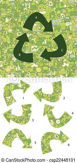 écologie, game., visuel, solution, morceaux, layer!, caché, allumette - csp22448101