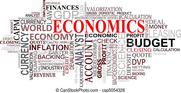 économie, nuage, étiquettes - csp5054326