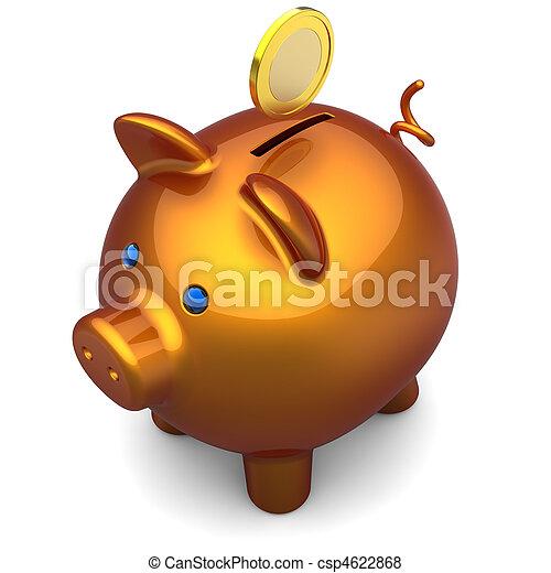économies, concept, porcin, (hi-res, bank. - csp4622868