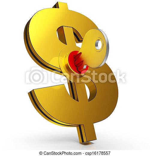 économies, projection, dollar, finance, clã© - csp16178557